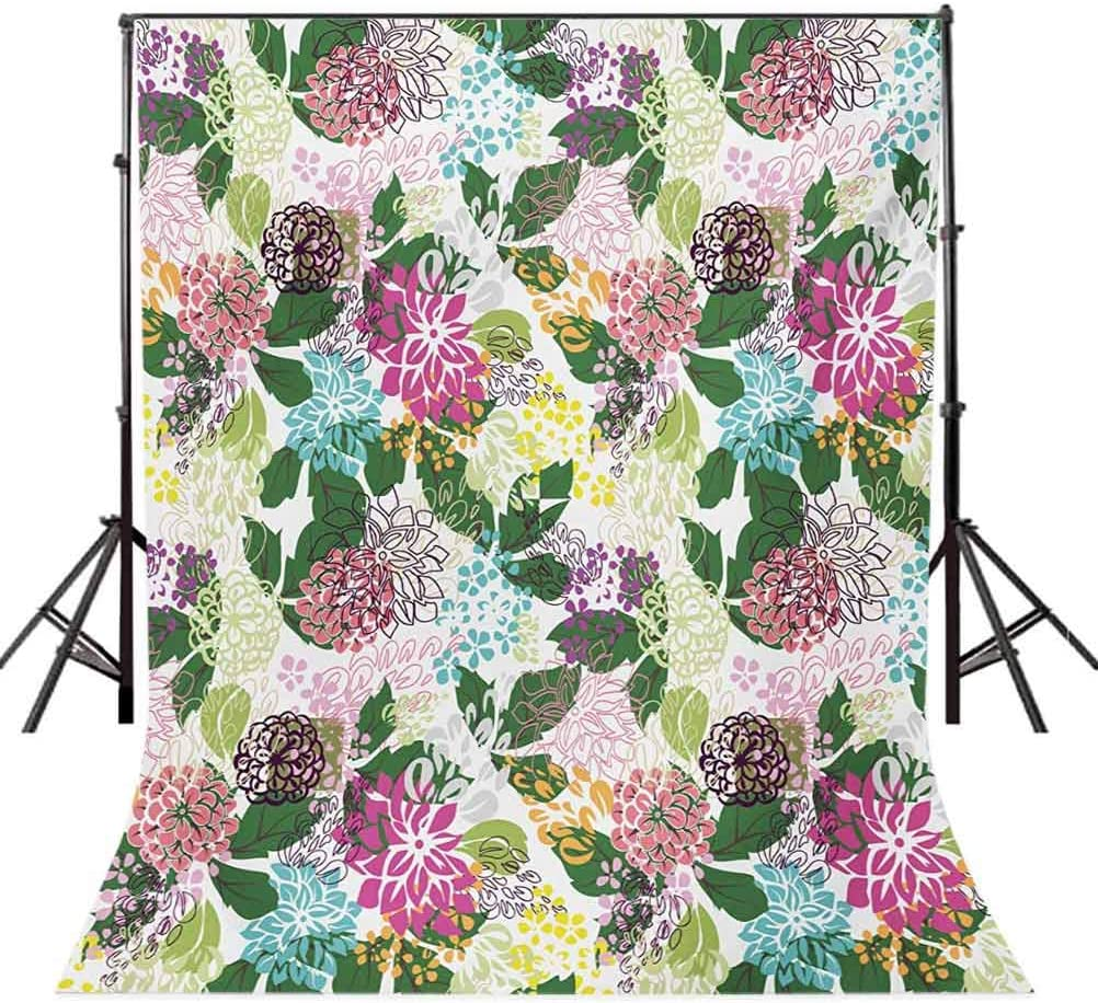 Floral 10x15 FT Photo Backdrops,Vibrant Flower Bouquet Botanical Beauty Artistic Blooms Inspiration Lifestyle Image Background for Baby Shower Bridal Wedding Studio Photography Pictures Multicolor