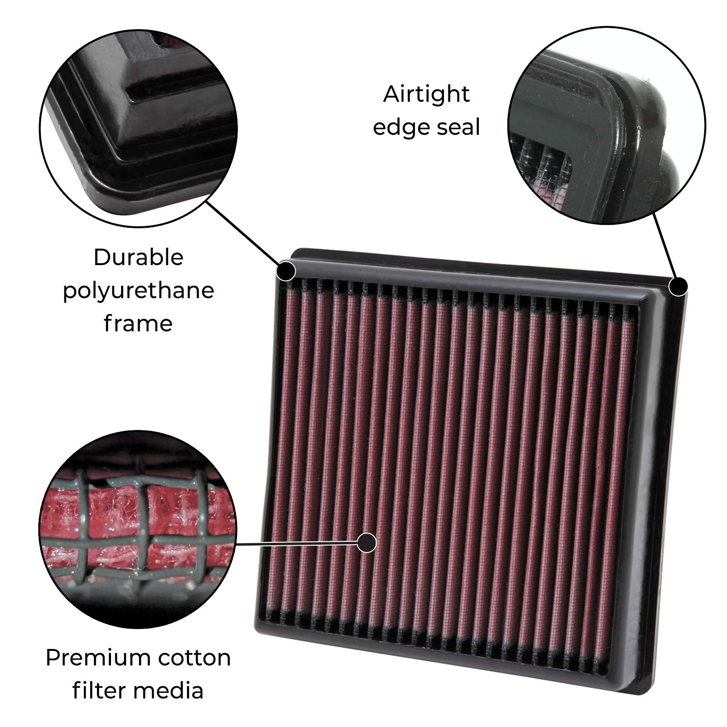 K/&N 33-2119 Replacement Air Filter