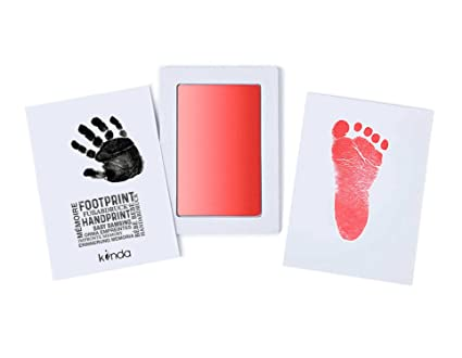 Newborn Baby Handprint Footprint Imprint Clean-Touch Ink Pad Photo Frame Kit DIY