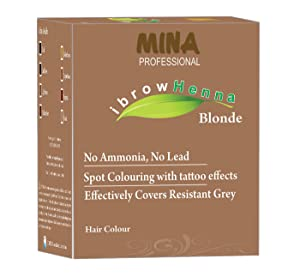 MINA Professional Ibrow Henna Blonde Refill Pack(With No Ammonia, No Lead and Stays Up to 6 Weeks)