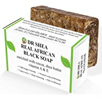 Organic African Black Soap 100g - Antibacterial Body Wash & Hand Wash - Eczema, Dry Skin, Psoriasis, Scar Removal, Face…