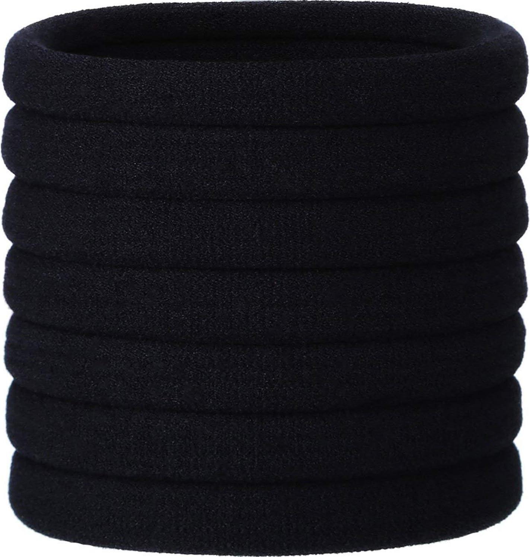 eBoot - Pelo Grueso y Rizado para Mujer, Color Negro, 51 cm