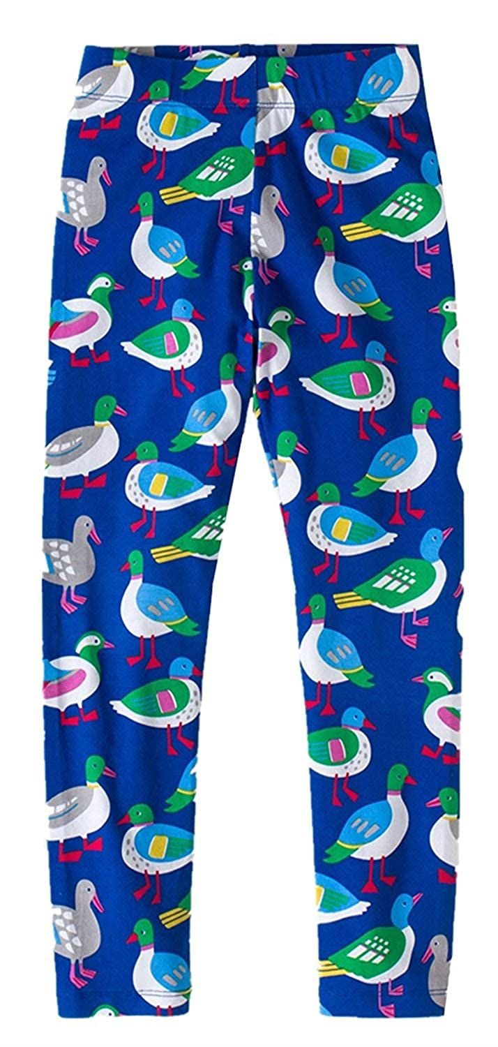 2Bunnies Girls Cotton Stretchy Colorful Birds Leggings