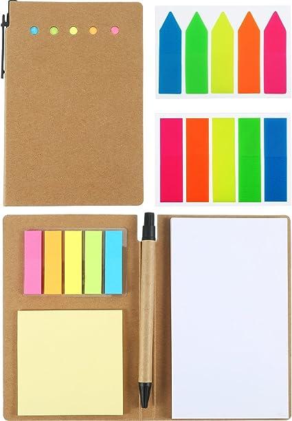2 Pack Notas índices Adhesivos Cuaderno de Kraft Libretas ...