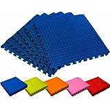 #DoYourFitness Schutzmatten Set 6X Puzzle Unterlegmatten Bodenschutz für Gymnastikräume - Matten Schutz vor Kratzern Stößen Dellen Kälte Lärm - 6X Steckelemente á 60 x 60 x 1,2 cm (ca. 2,2m²)
