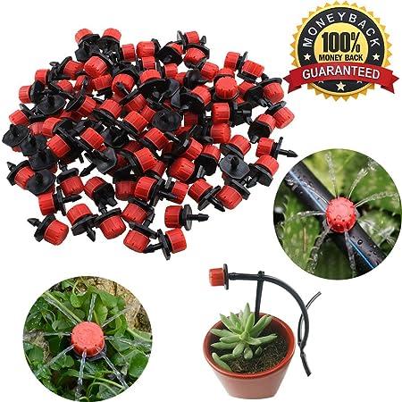 Cabezales de riego para aspersores Shineus de pl�stico, ajustables, Pack de 100: Amazon.es: Jardín