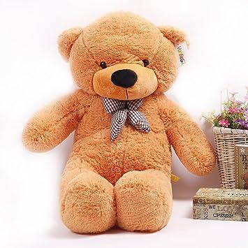 YunNasi Teddy Oso Enorme de Peluche Animal de Felpa Perfecto Regalo 120 cm marrón Claro