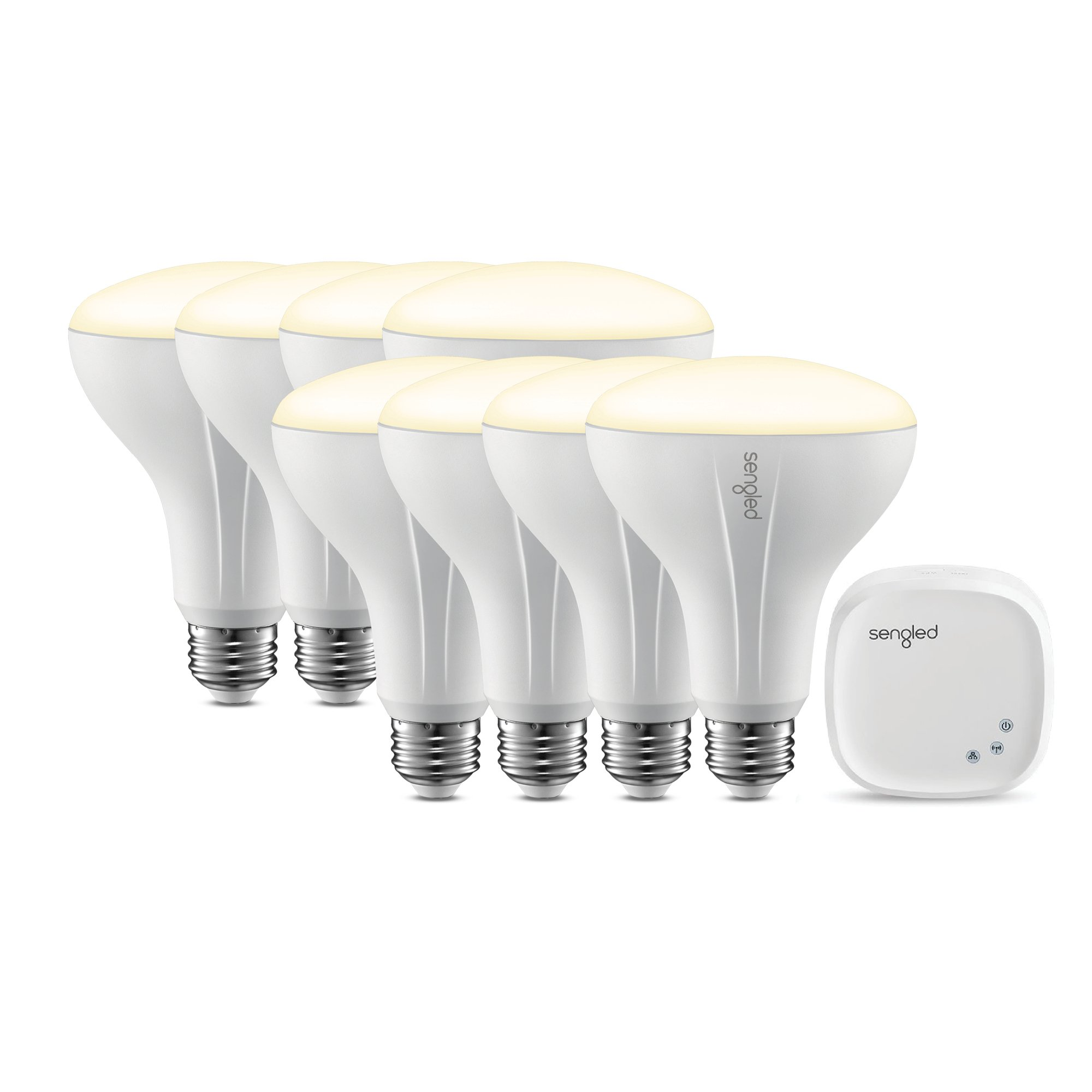 Element Classic by Sengled - Starter Kit (8 BR30 bulbs + hub) - Soft White 2700K Smart LED, Works with Alexa & Google Assistant by Sengled (Image #1)