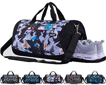 afbb915729bd7 CoCoCoMall Sporttasche mit Schuhfach und Nasstasche