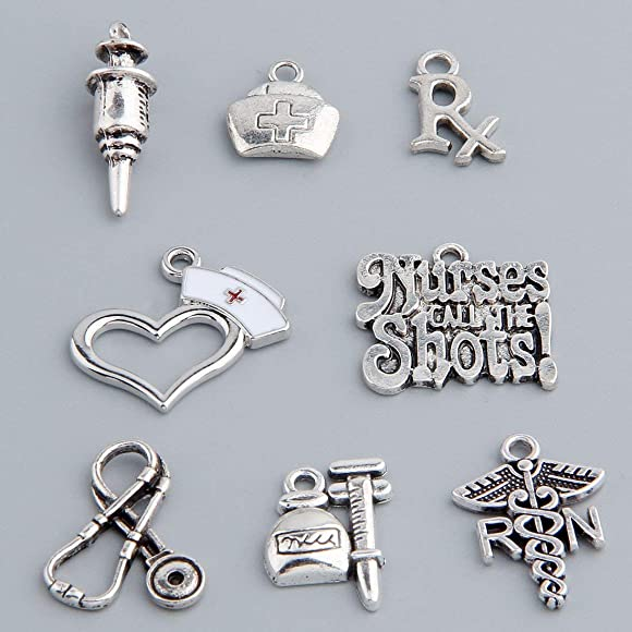 bd13a4a2bc7ac 16pcs Medical Nurse Charms Collection for Jewelry Making