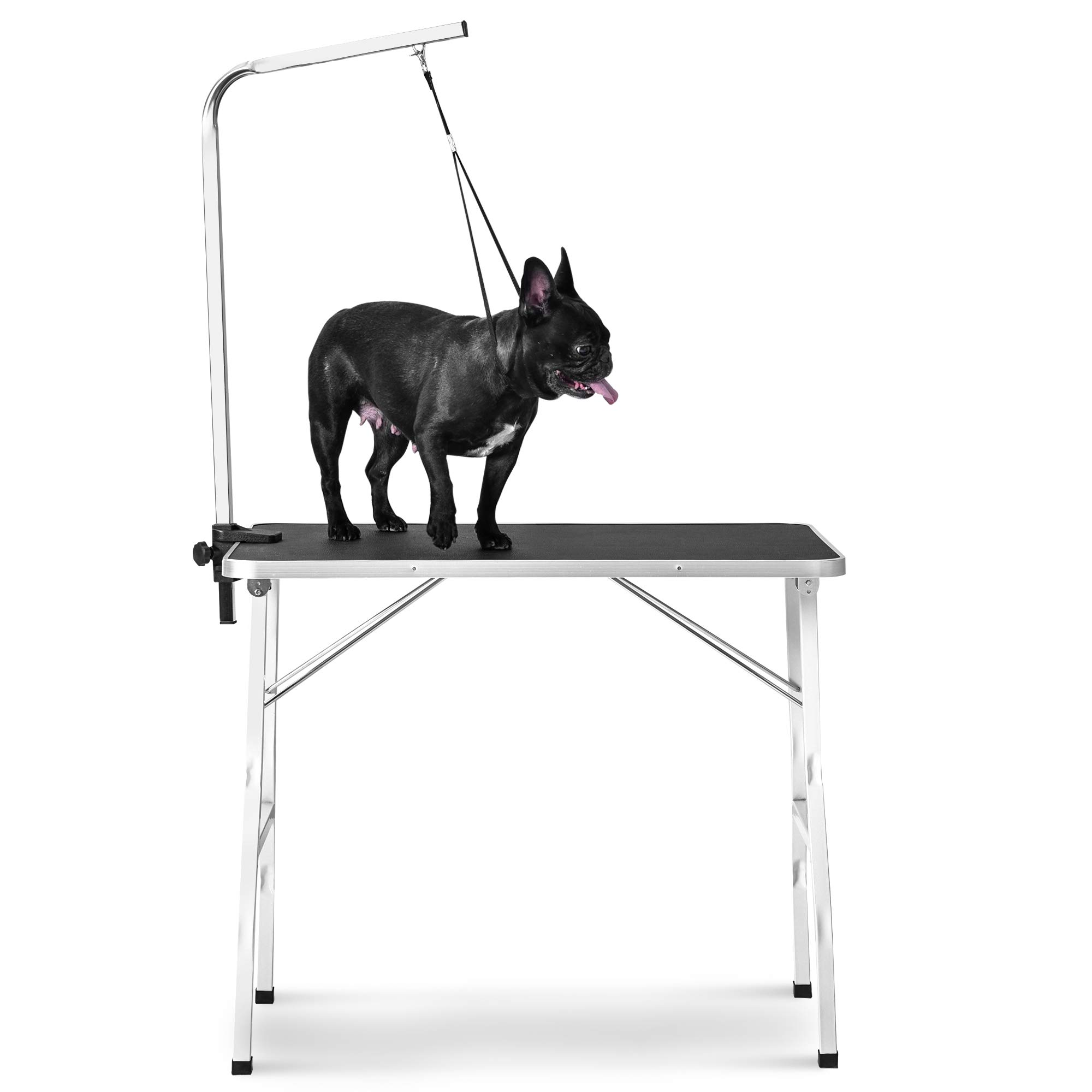 Rhomtree 30'' Foldable Pet Grooming Table with Adjustable Grooming Arm for Small Dog Durable Heavy Duty (30 inch)