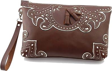 Bolso Piel mano con asa. Medidas 27x16.5x5cm (Cuero): Amazon.es: Zapatos y complementos