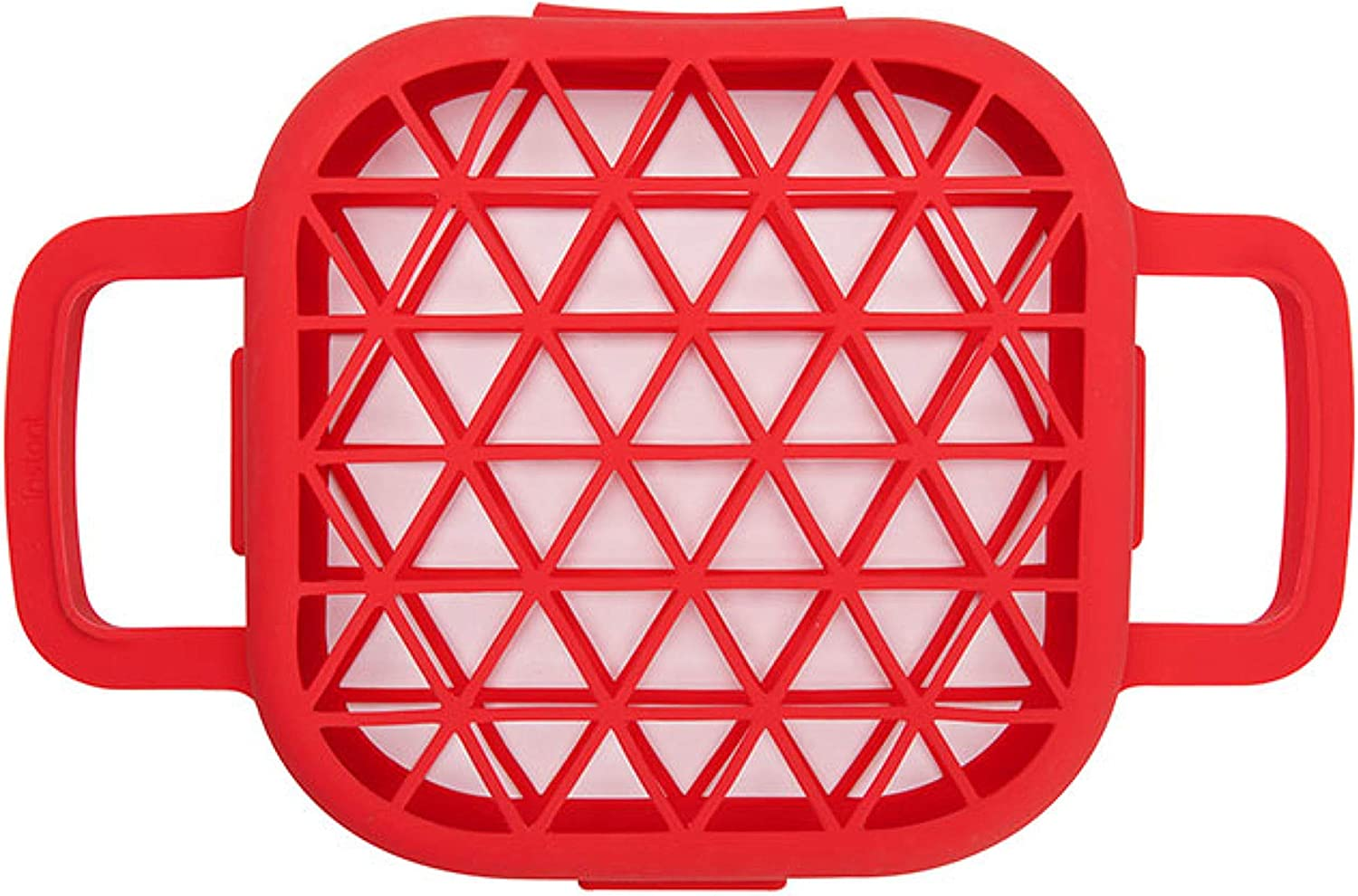 Instant Pot Official Air Fryer Silicone Flip Grill Cage, One size, Red