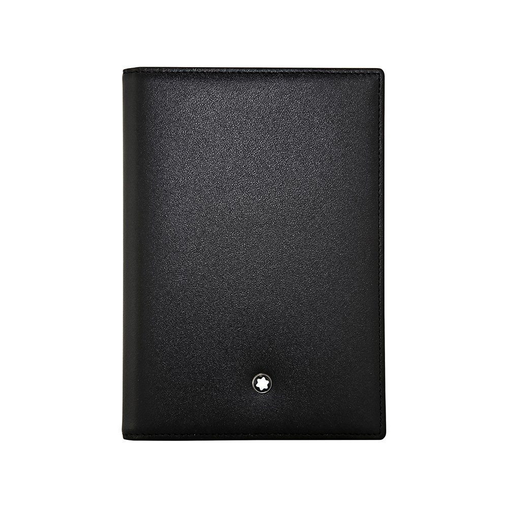 MONTBLANC International Passport Holder * Black European Cowhide 35285