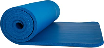 """Extra Thick Foam Exercise Mat 72/"""" x 24/"""" x 0.50/"""" by Wakeman Fitness BLUE"""