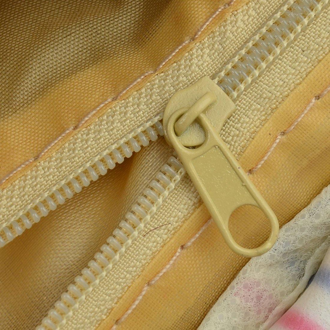 Amazon.com: eDealMax algodón de lino modelo de la raya al aire libre Inicio almuerzo titular refrigerador de la bolsa del bolso del bolso: Kitchen & Dining