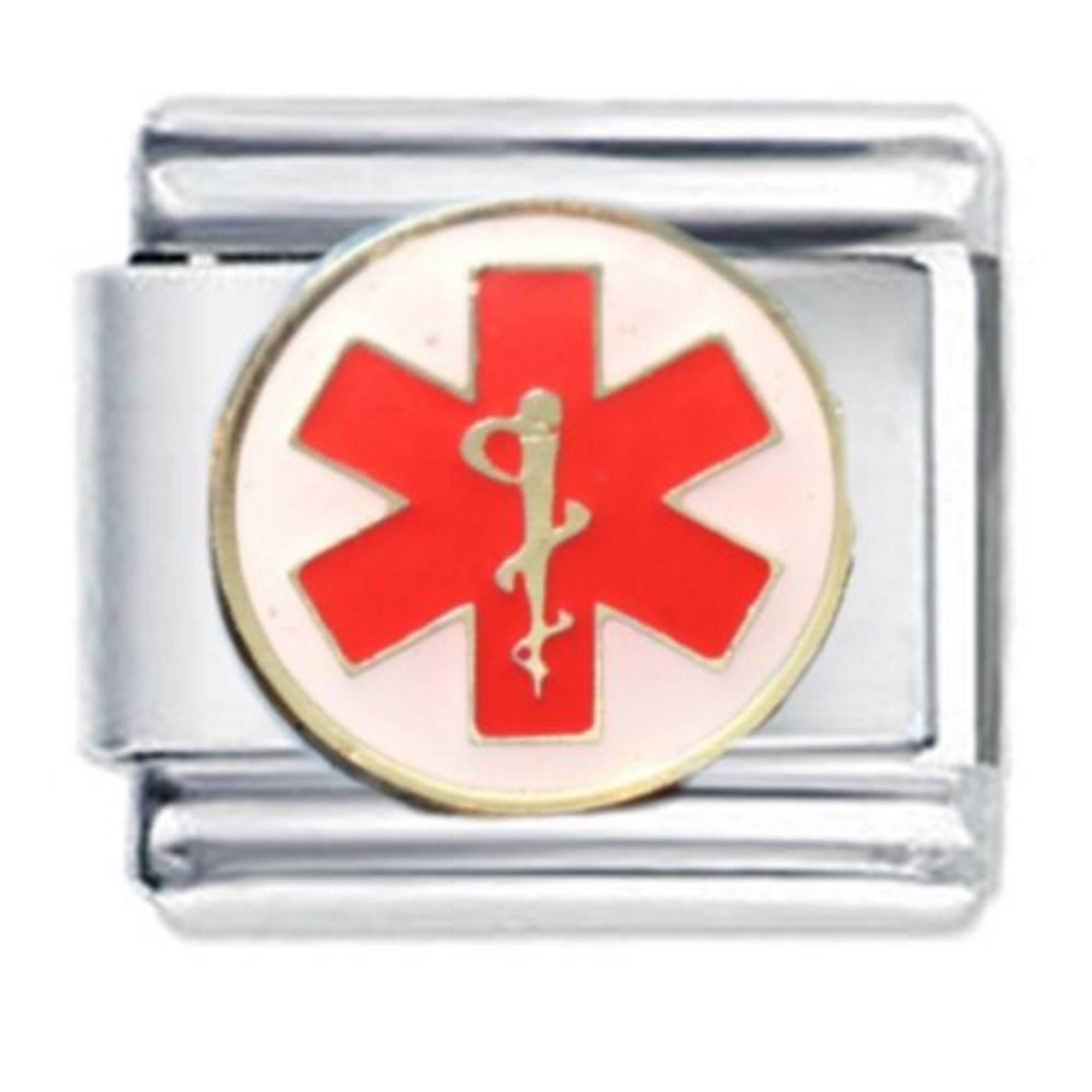 JSC Jewellery Caduceus Medical Symbol Enamel Charm by Daisy Charm® fits Nomination Classic Bracelets