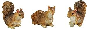 Georgetown Home & Garden Miniature Squirrels Garden Decor in Assorted Styles, Set of 3