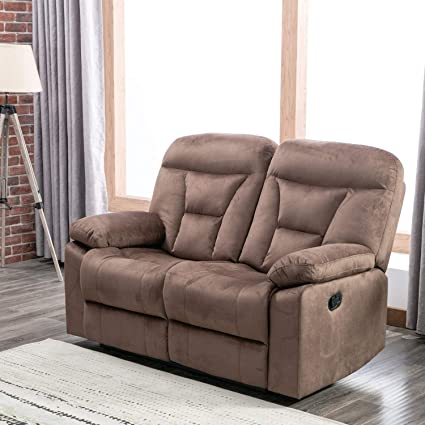 Amazon.com: CANMOV Reclining Loveseat, Soft Warm Microfiber ...