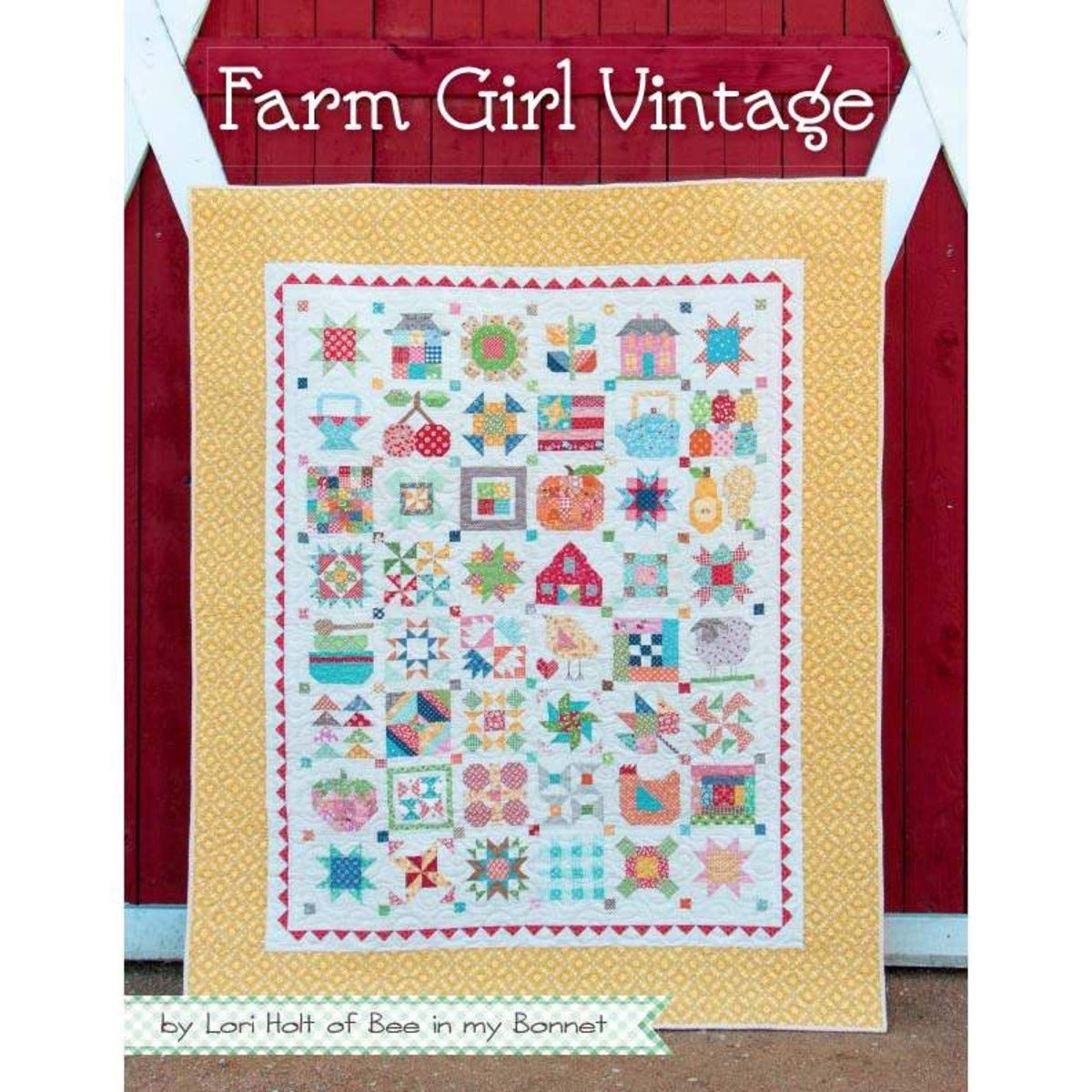 5 Sewing/Quilting Books by Lori Holt: Farm Girl Vintage 2 + Farm Girl Vintage + Quilty Fun + Vintage Christmas + Spelling Bee by Lori Holt