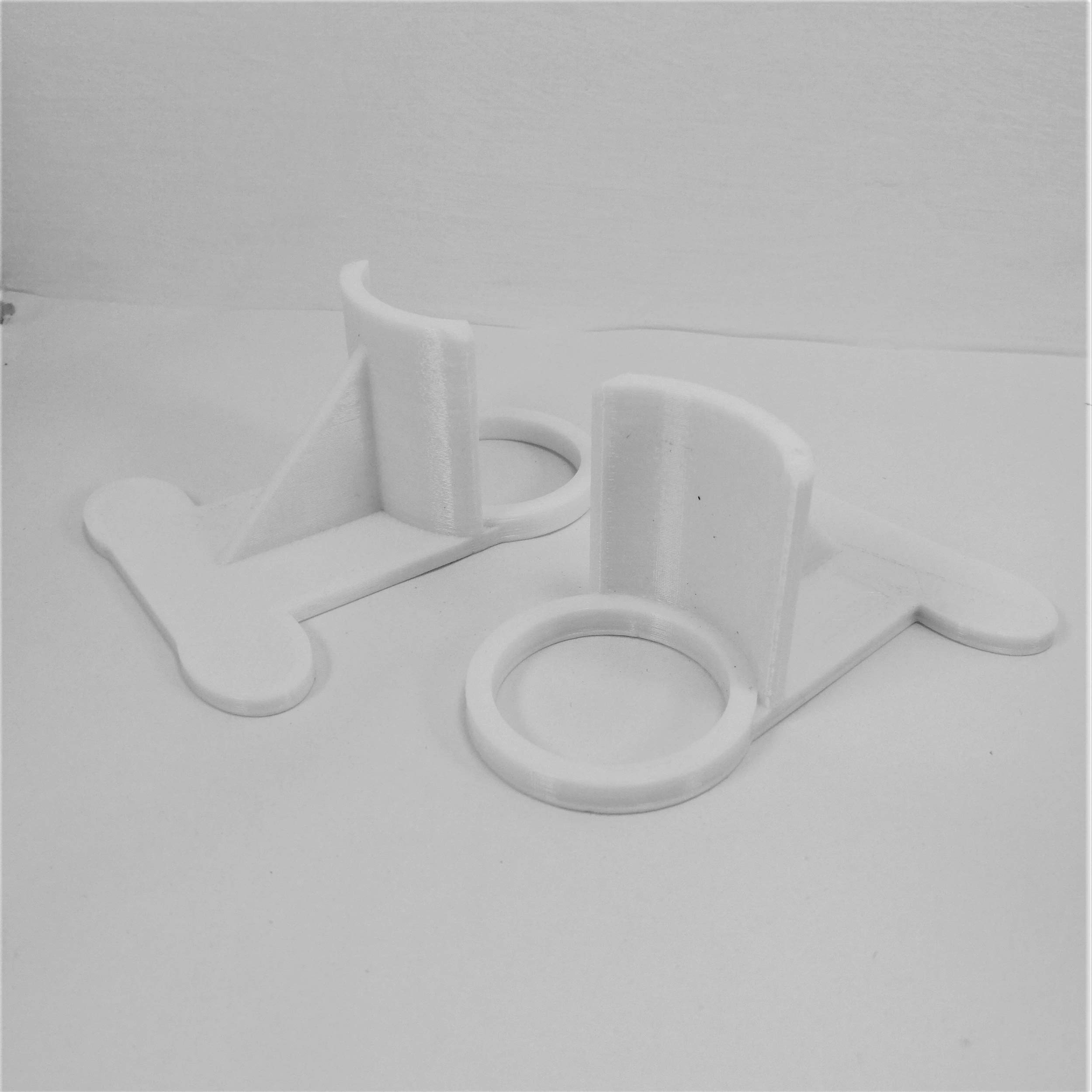 3DCabin 2 X Swimming Pool Pipe Holders Grey Holds Pipes 30Mm to 37Mm Designed to Fit On Intex Pools