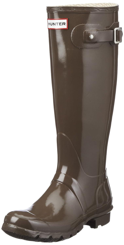 Hunters Original Tall Gloss, Botas de Agua Para Mujer Marrón (Cocoa)