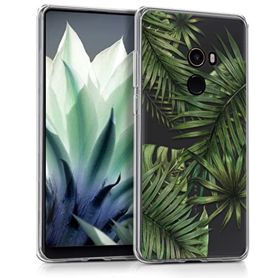 sports shoes ad7c6 5459a kwmobile TPU Silicone Case for Xiaomi Mi Mix 2 - Crystal Clear Smartphone  Back Case Protective Cover - Green/Transparent