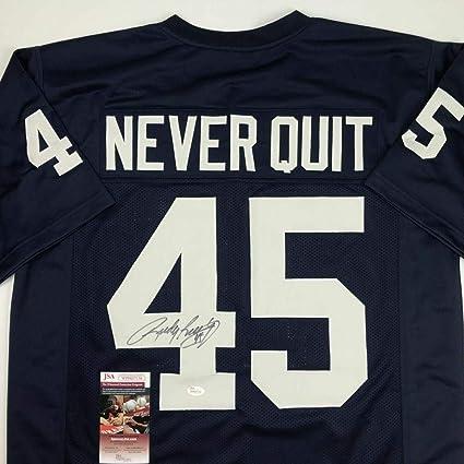 Signed Rudy Ruettiger Jersey - Blue Never Quit COA - JSA Certified -  Autographed College Jerseys d5a2dd5b2