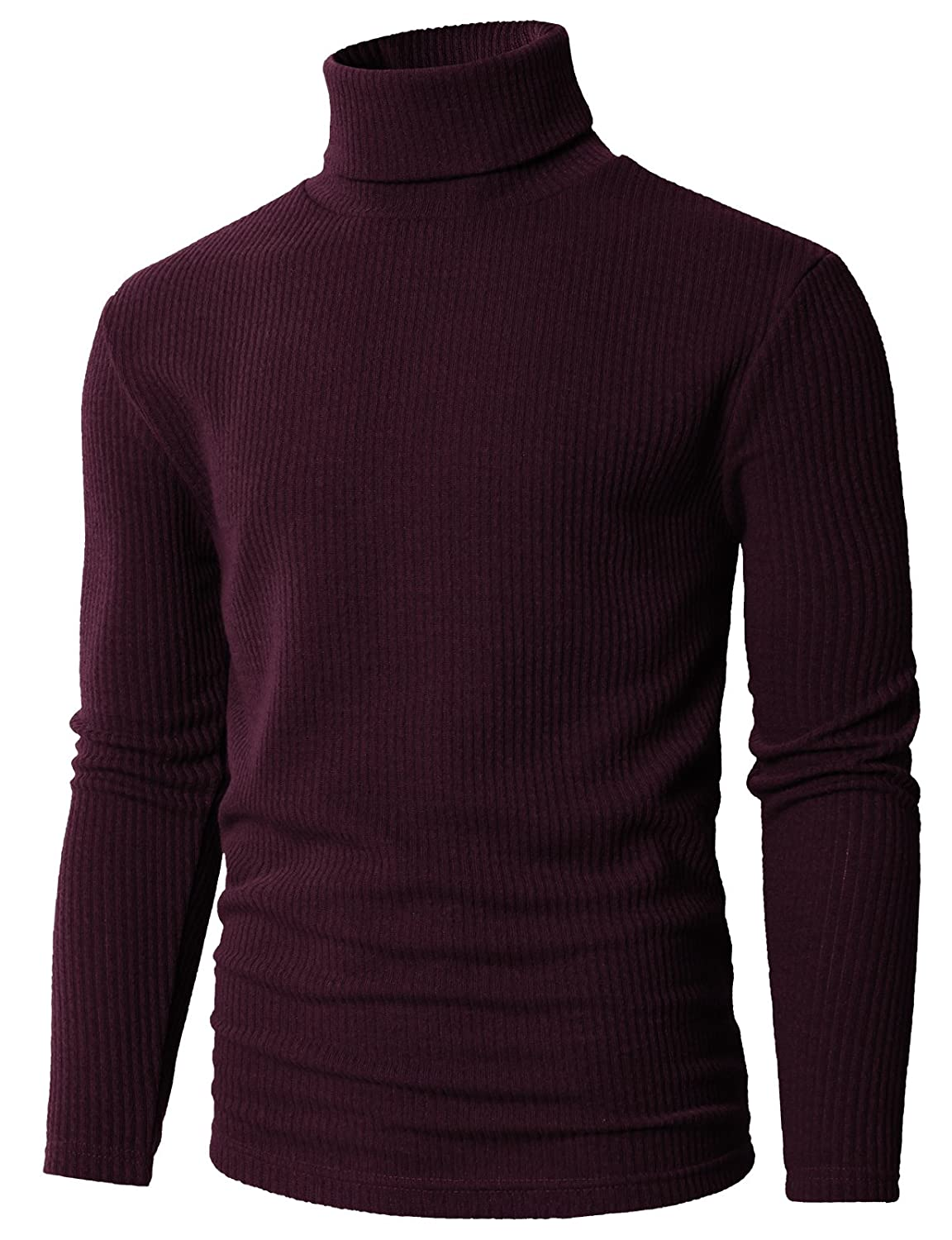H2H Mens Slim Fit Basic Ribbed Thermal Turtleneck Pullover Sweaters #CMTTL099