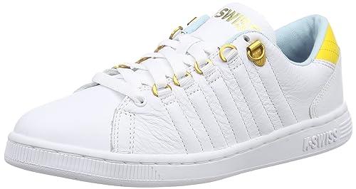 K-Swiss LOZAN III - Zapatillas Mujer, Blanco - Weiß (WHT/CLRWTR/FREESIA 174), EU 36: Amazon.es: Zapatos y complementos