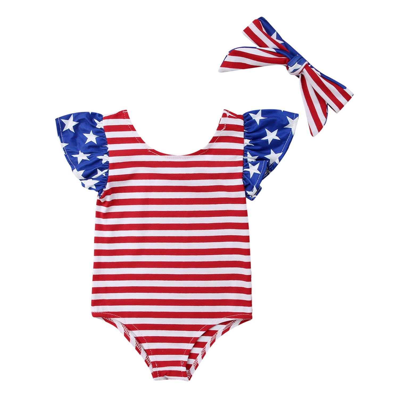795bb98e0 Amazon.com  Dovee Baby Newborn Baby Girls Sunflower Bodysuit Romper ...