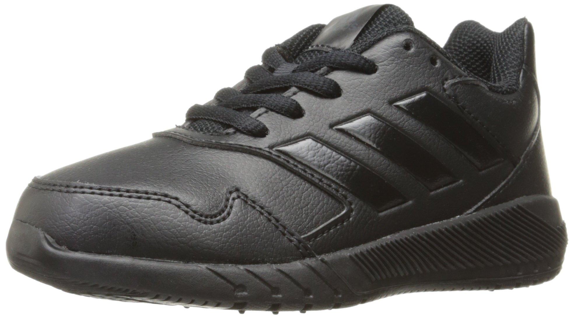 adidas Kids' Altarun Running Shoe, Black/Black/Dark Solid Grey, 4.5 Medium US Little Kid
