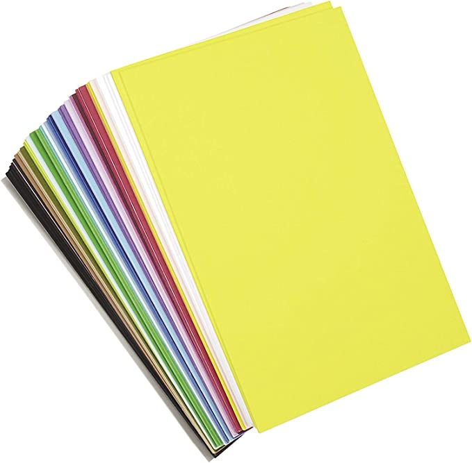 """Camps 9/"""" x 12/"""" Per Sheet Darice Foamies Adhesive Back Foam Sheets Multipack Assorted Bright Colors Classrooms 12 Sheets Per Pack Parties Great for Craft Projects with Kids Scouts"""