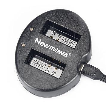 Newmowa USB Cargador Doble para Canon LP-E12 Canon EOS M M2 M10 EOS 100D EOS Rebel SL1