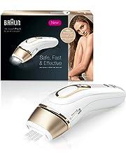 Braun Silk-Expert Pro 5 PL5014 Depiladora Luz Pulsada (IPL) de Última Generación, Depilación Permanente, Color Blanco y Dorado