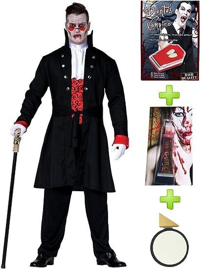 Disfraz de Vampiro Gotico con set de caracterizacion: Amazon.es ...
