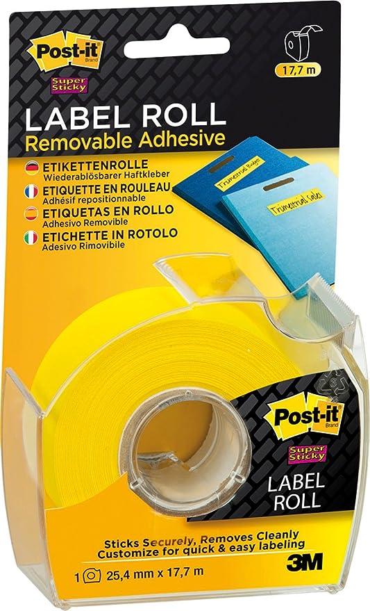 Amazon.com: mmm2600y – Rollos de Etiquetas, Super Sticky ...