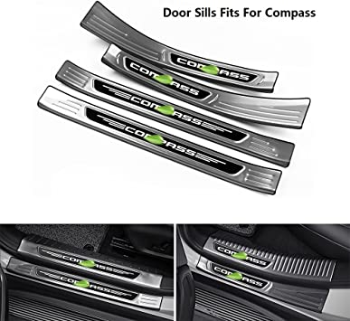 For Jeep Compass Accessories Steel Door Sill Plate Guard Protector 2017 2019