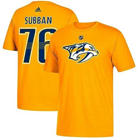 Amazon.com   adidas PK Subban Nashville Predators NHL Men s Gold ... 0fd06902e