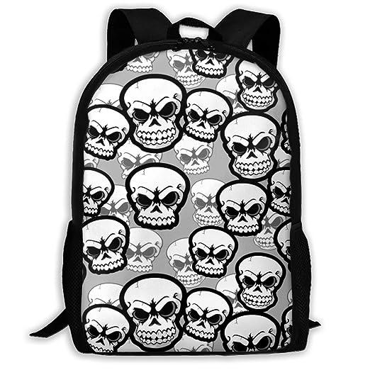 fd9c34a88b0a Amazon.com: YISHOW Black White Doodle Skull Boys Girls for School ...