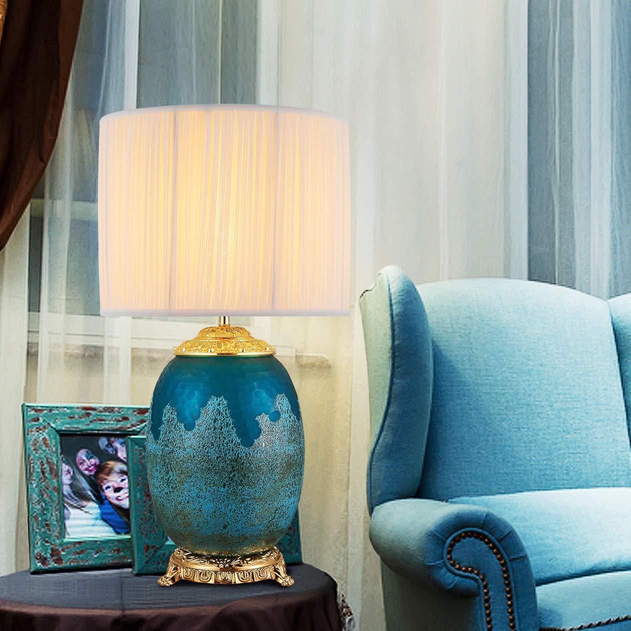 JINSH Home Glastischlampe Hotel Hotel Hotel Schlafzimmer Nachttisch Wohnzimmer Französisch Lampen B07JLLQL6P | Deutschland Online Shop  b9b798