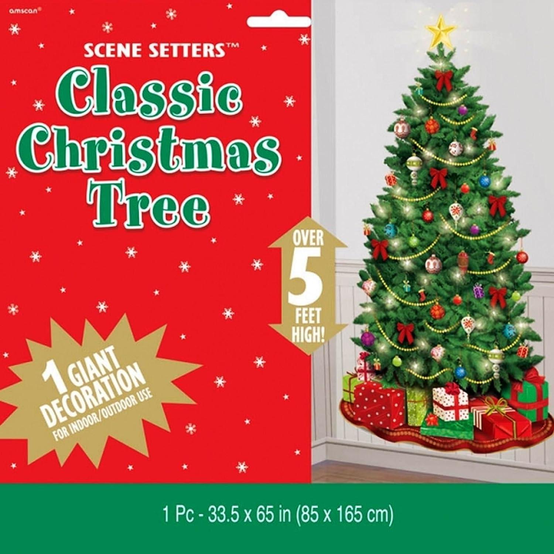 5 ft klassischen Weihnachtsbaum Festive Scene Setter Add-Ons Wand ...