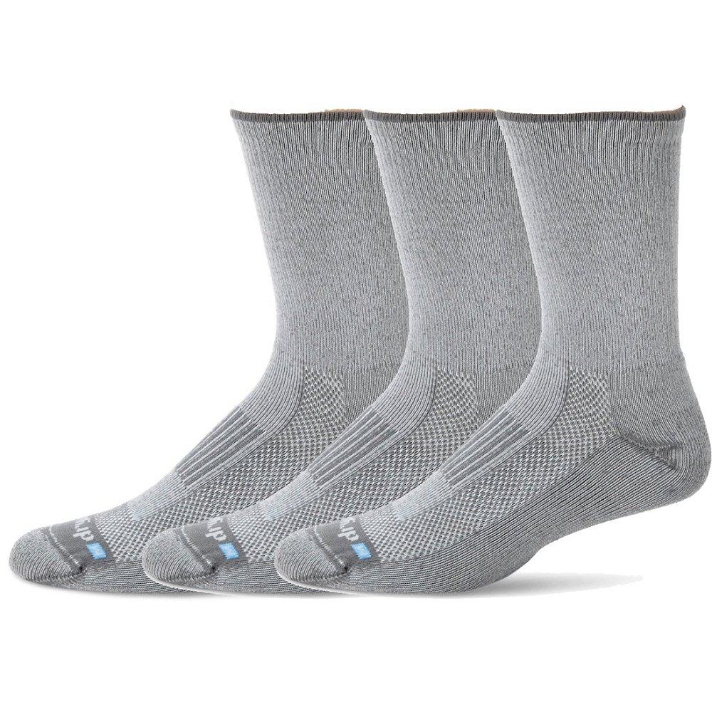 Drymax Socks Lite Hiking Crew M3.5-5.5-3 Pack Gray W5-7