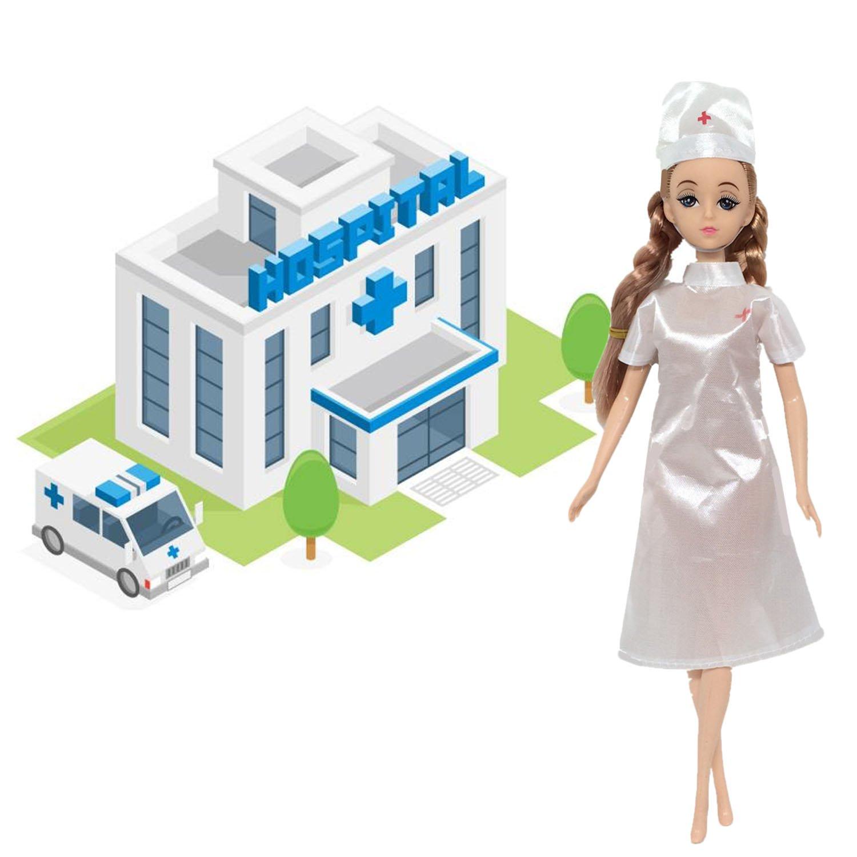 Kleidung für Barbie,Beetest 4 Set Puppe Spielzeug Krankenschwester ...