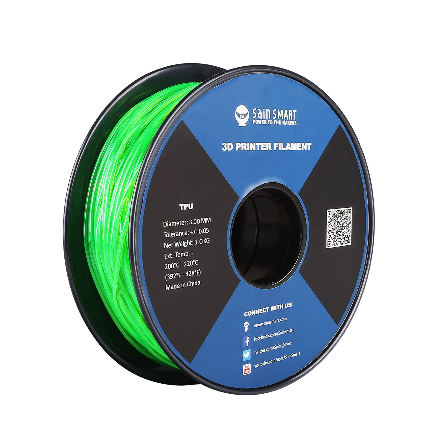SainSmart 3mm TPU 3D Printing Filament Purple 1.0 kg