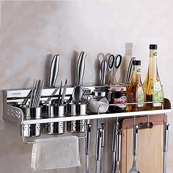 Acero inoxidable Utensilio de cocina Rack Free Adjustment Estante para colgar en la pared Aplique Utensilio de cocina (Color : 3 Chopstick holders, ...
