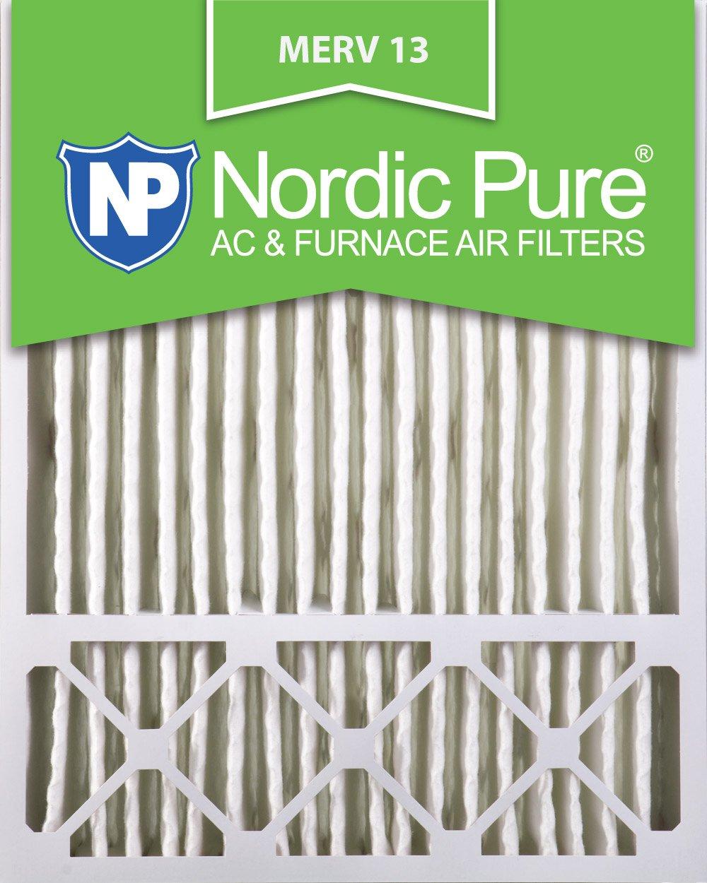 Nordic Pure 20x25x5 (4-3/8 Actual Depth) MERV 13 Lennox X6673, X6675 Replacement AC Furnace Air Filter, 2 Piece