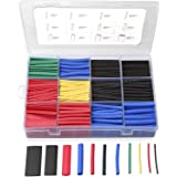 560PCS Heat Shrink Tubing 2:1, Eventronic Electrical Wire Cable Wrap Assortment Electric Insulation Heat Shrink Tube Kit with