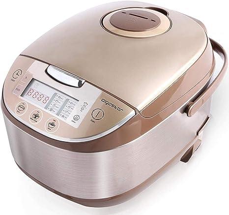 Aigostar Golden Lion 30HGY - Robot de cocina multifunción, 5L, 918 W, 11 funciones programables, temporizador programable y función mantener caliente, adecuado para raciones de 3 a 10 personas.: Amazon.es: Hogar