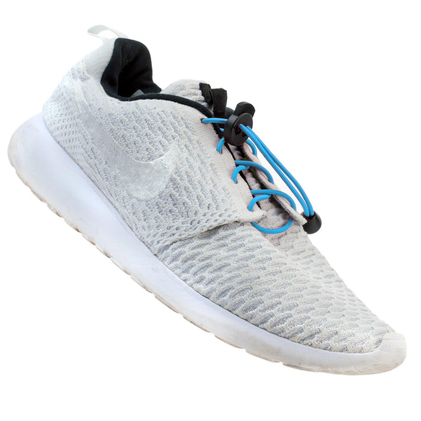 Flexy Lock Lace Schnell Schnürsystem aus Polyester in verschiedenen Farben geeignet für Triathlon, schnellspann Schnürsenkel, schnellspanner, ideal